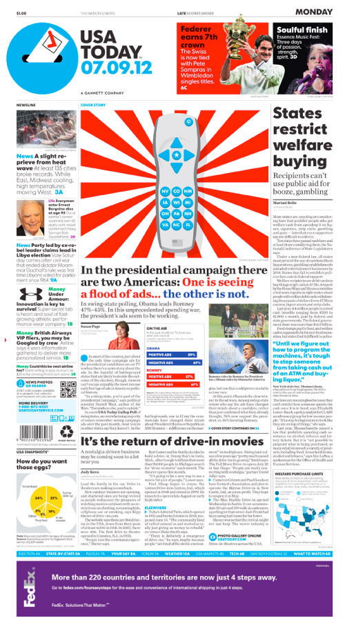 USA Today New Paper Layout