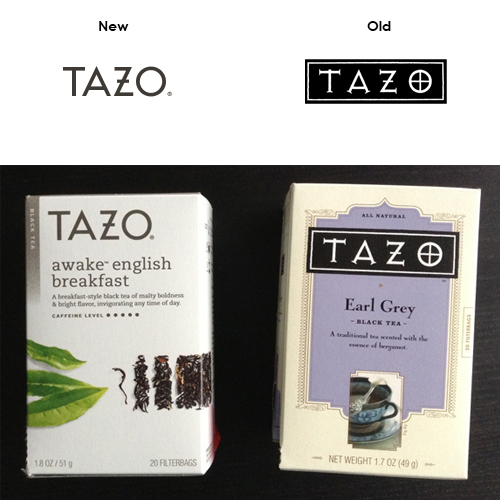 New vs Old Tazo Logo